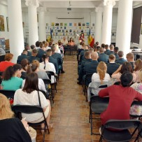"Students of the Military Academy attended the conference ""Romanian Language and the Internet"""