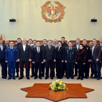 Students of postgraduate course in security and defense visited the Ministry of Defence